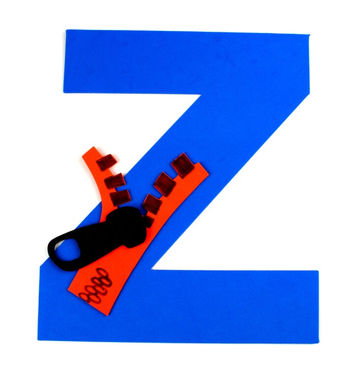 Alphabet Crafts For Kids: Z is for Zipper