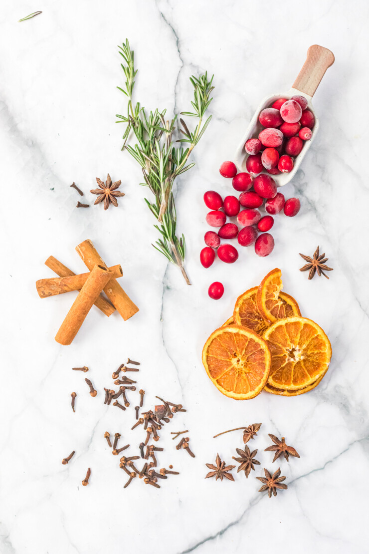 This Holiday Slow Cooker Potpourri In A Jar makes a pretty gift package and is excellent as a hostess gift with free printable gift tag.
