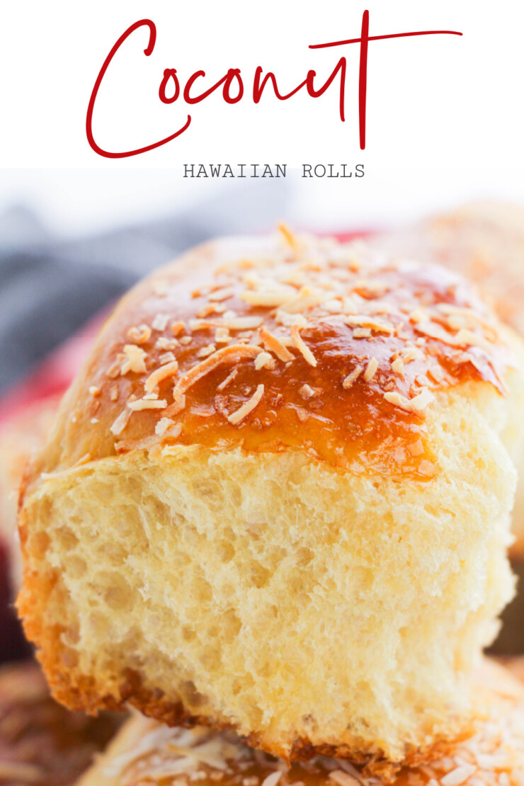 Soft and fluffy, these coconut Hawaiian rolls are unbelievably good! A hint of pineapple and the dusting of coconut give these rolls an addictive tropical flavour that makes them a welcome addition to any meal.