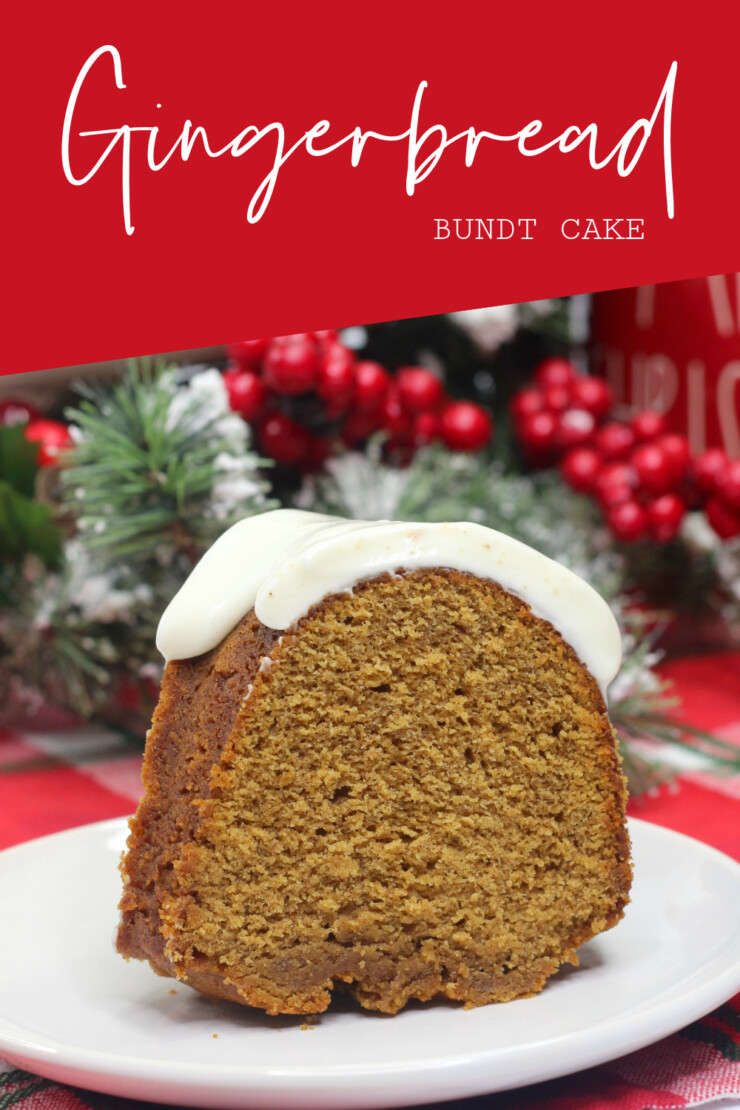 Moist and delicious, this Gingerbread Bundt Cake recipe is full of warming gingerbread spices and smothered in the best cream cheese frosting.