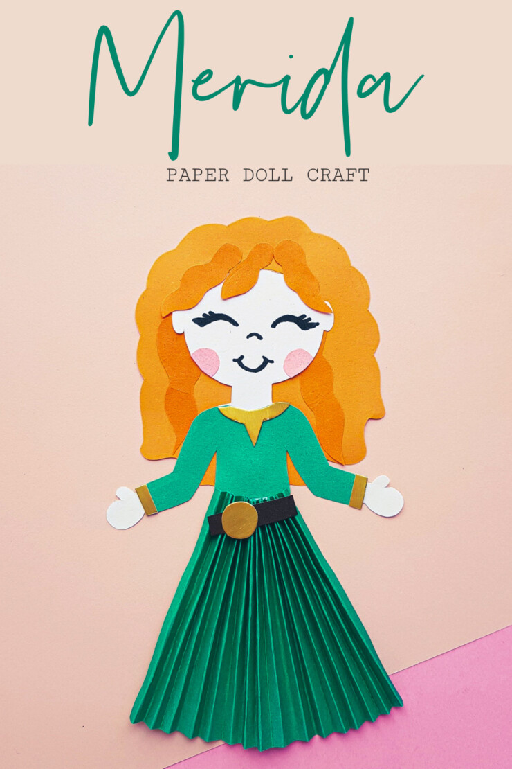 This Disney Princess Merida Paper Doll Craft is not only adorable, but it is also easy to make. Along with the step by step directions below, this craft comes with a free printable document to help aid you in making it.