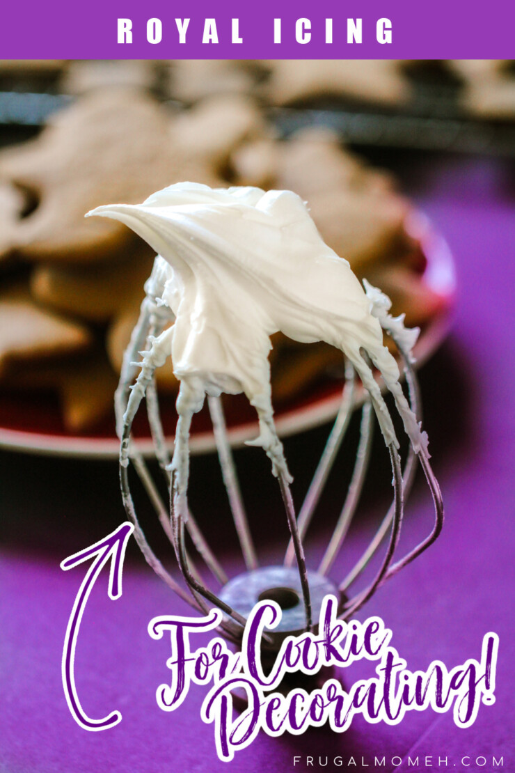 This is a classic Royal Icing for Decorating Cookies recipe made with egg whites. It results in a stiff icing that holds its shape well.
