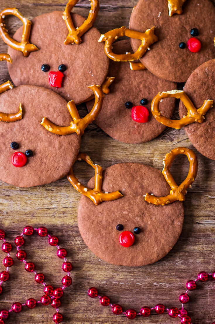 Rudolph Chocolate Sugar Cookies