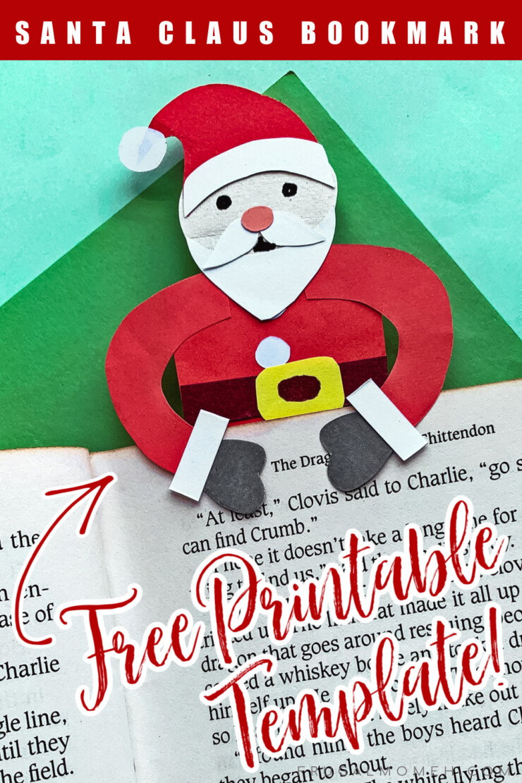 I hope you will love this Easy Santa Claus Bookmark Craft - this Paper Christmas DIY project includes a free printable template. This cute Santa Bookmark more for a perfect little Christmas Gift tucked into a book.