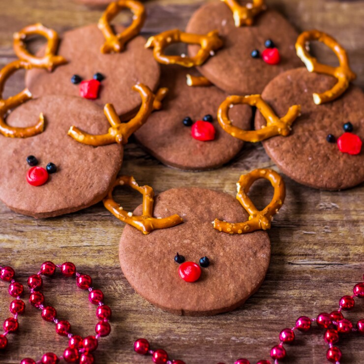 Rudolph Chocolate Sugar Cookies