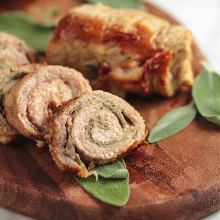 Veal Saltimbocca Roulade