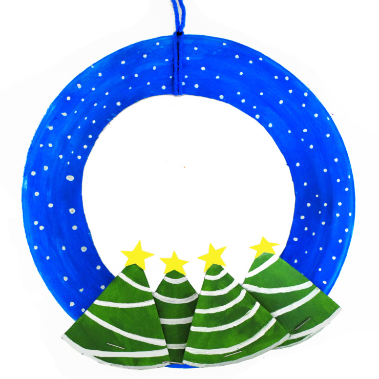 Winter Wonderland Paper Plate Wreath