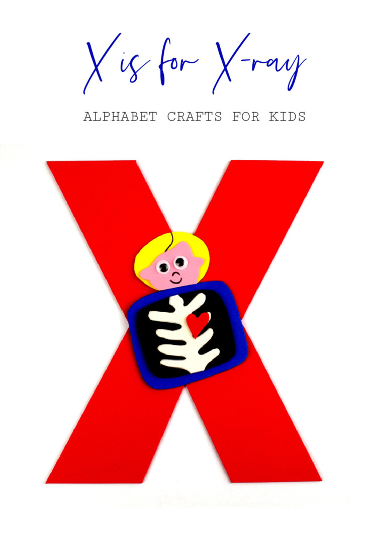 This week in my series of ABCs kids crafts featuring the Alphabet, we are doing a X is for X-Ray craft. These Alphabet Crafts For Kids are a fun way to introduce your child to the alphabet.