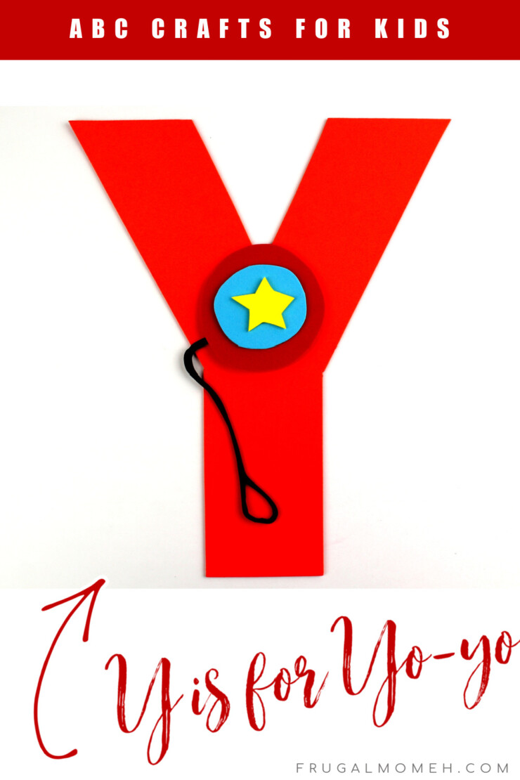 This week in my series of ABCs kids crafts featuring the Alphabet, we are doing a Y is for Yo-yo craft. These Alphabet Crafts For Kids are a fun way to introduce your child to the alphabet.