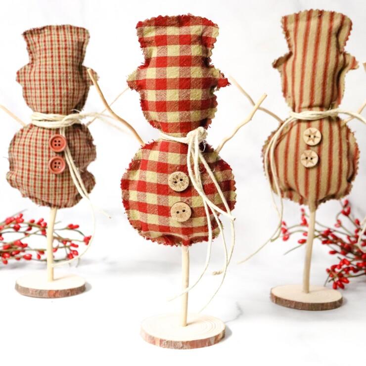 Fabric Snowman Craft
