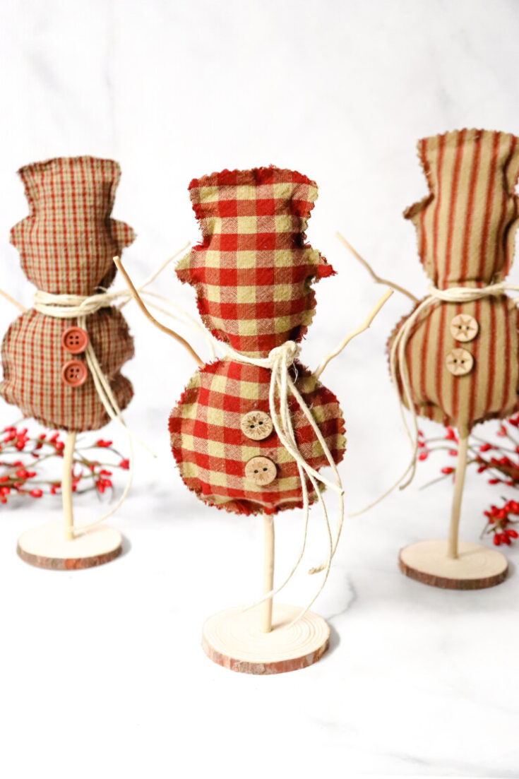 Fabric Snowman Craft