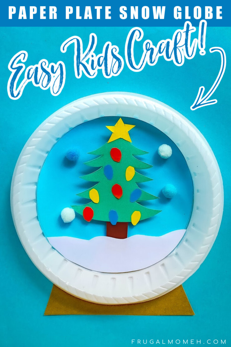 Kids will love making their very own Christmas Tree Paper Plate Snow Globe. This is an easy kids paper craft for the holidays.