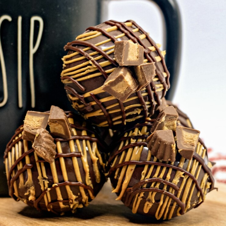 Peanut Butter Cup Hot Chocolate Bombs
