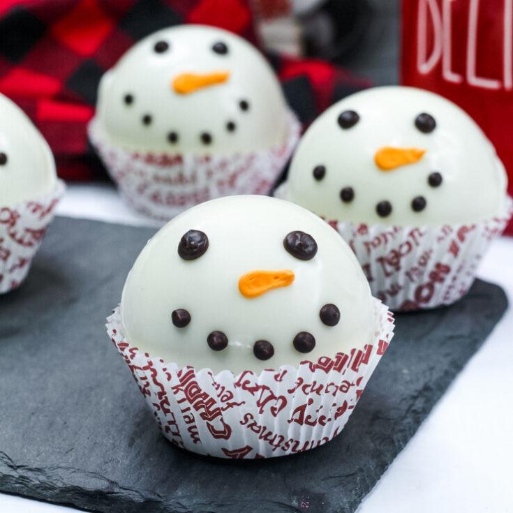 Snowman Hot Chocolate Bomb Recipe