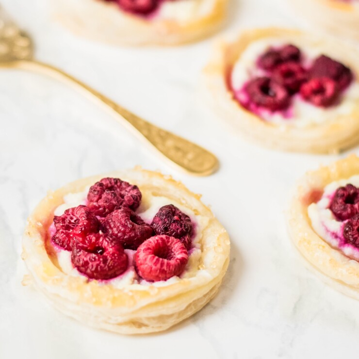 Puff Pastry Raspberry Danishes