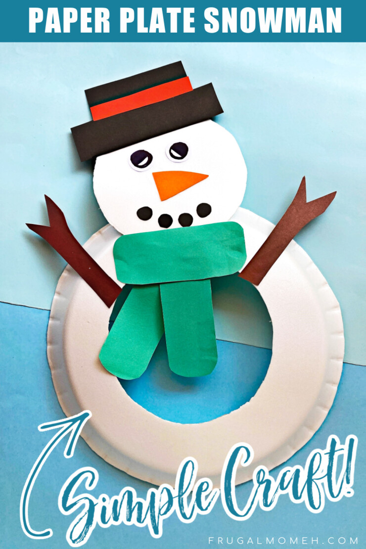 This simple paper plate snowman is a fun winter craft for kids that is easy enough for Toddlers and preschoolers.
