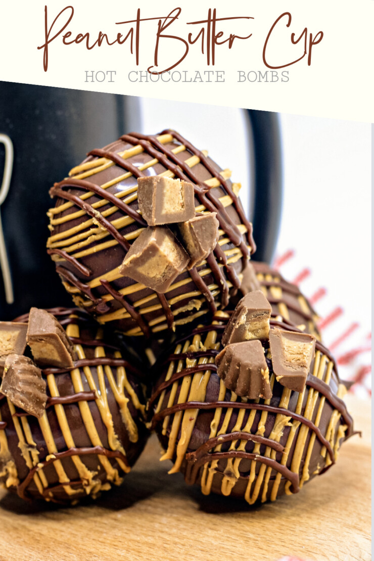 These Peanut Butter Cup Hot Chocolate Bombs are a rich and delicious twist on a basic hot cocoa bomb recipe.