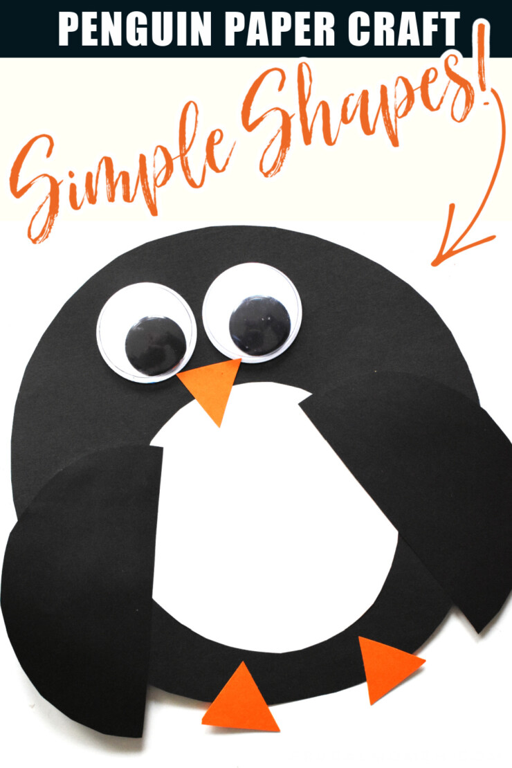 Simple Shape Paper Penguin Craft Easy Winter Craft For Kids