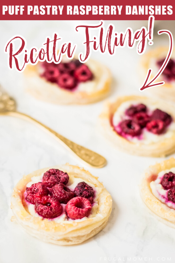 These Puff Pastry Raspberry Danishes are an easy to make breakfast pastry featuring fresh raspberries and a luscious ricotta filling.