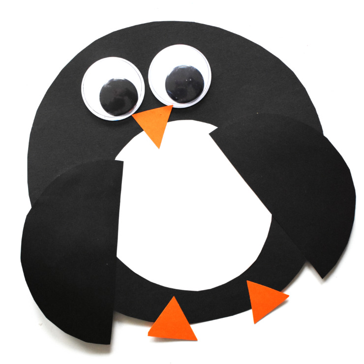 Simple Shape Paper Penguin Craft