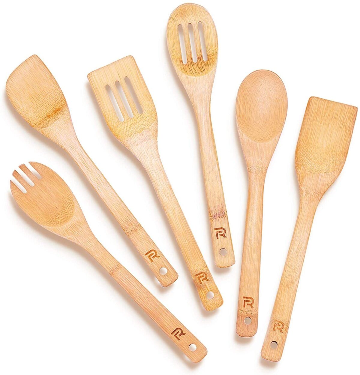 6-Piece Bamboo Utensil Set