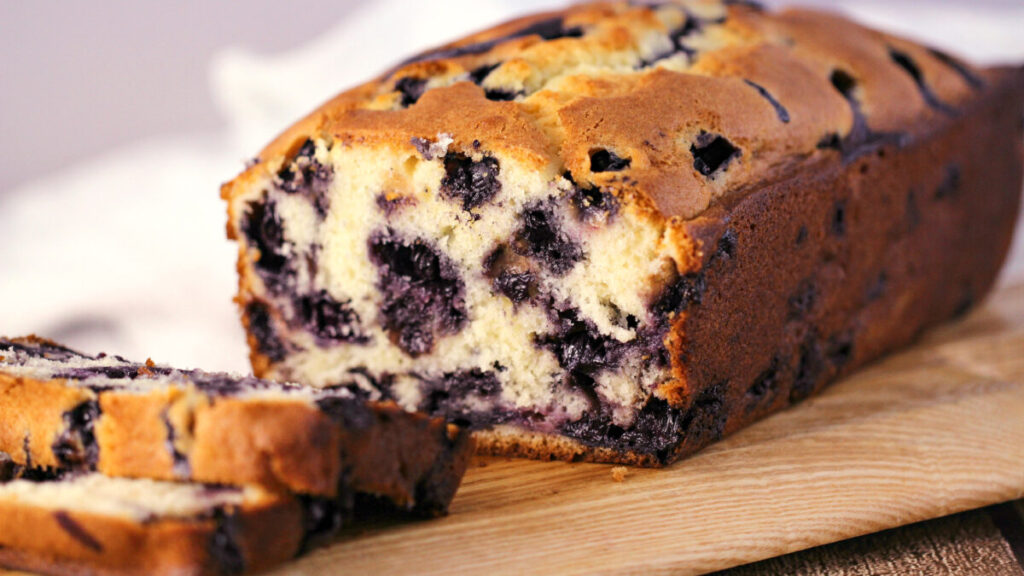 This Blueberry Muffin Bread is a favourite blueberry bread recipe in our family that is moist, fluffy and packed full of juicy blueberries.