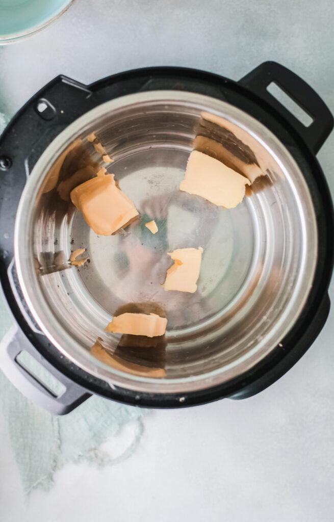Butter inside an instant Pot