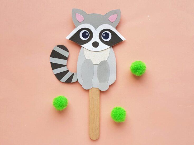 Papercraft Raccoon Puppet