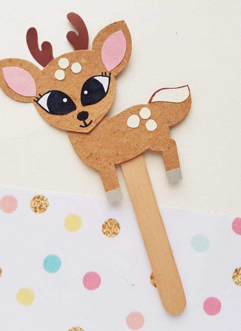 Papercraft Deer Puppet