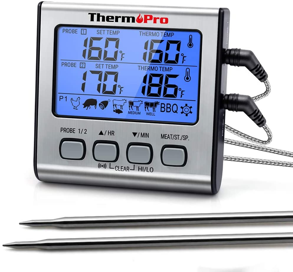 ThermoPro TP-17 Dual Probe Digital Cooking Meat Thermometer