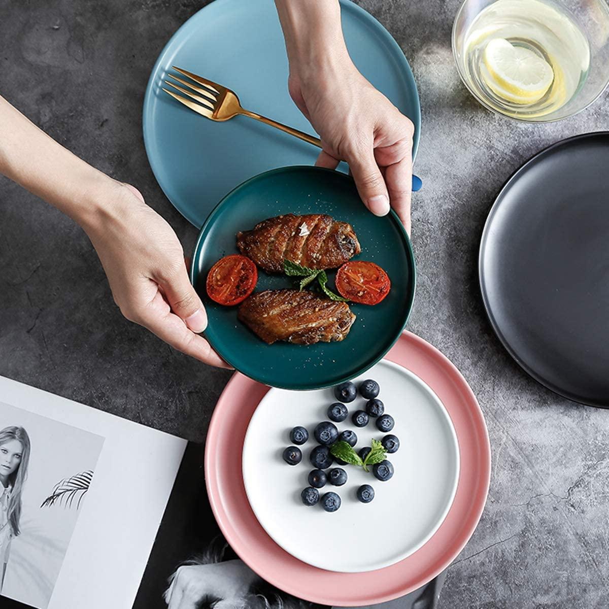Swuut Matte Ceramic Appetizer Plates 6 Inch
