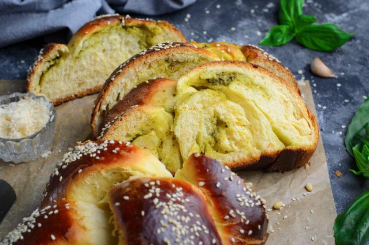 Parmesan Pesto Challah Bread