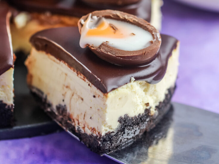 Instant Pot Creme Egg Cheesecake