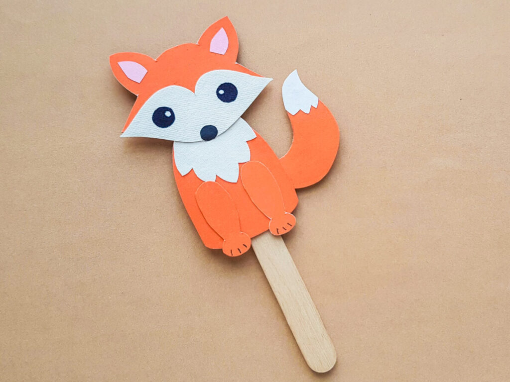 This Papercraft Fox Puppet is an easy kids paperfcraft animal project with a free papercraft template to help you make this kids craft.
