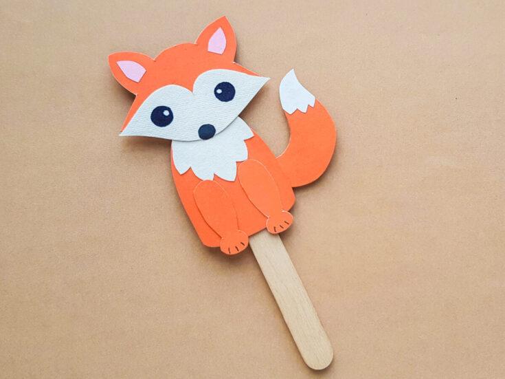 Papercraft Fox Puppet