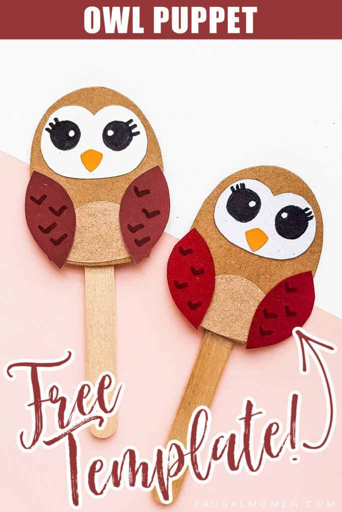 This Papercraft Owl Puppet is an easy kids paperfcraft animal project with a free papercraft template to help you make this kids craft.
