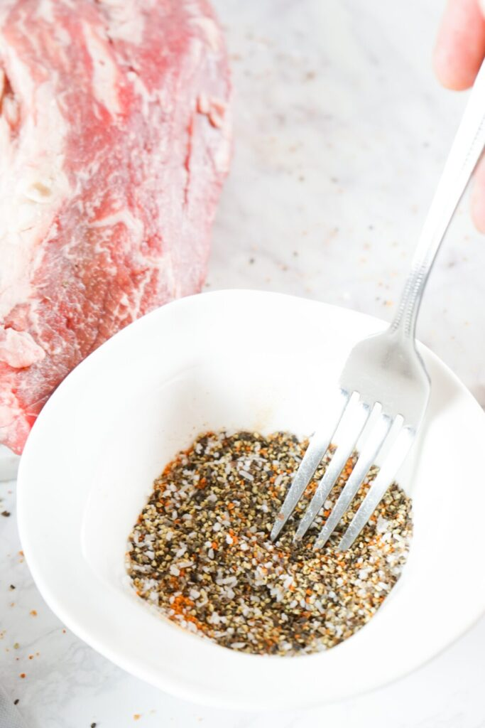 seasonings mixed together in a bowl