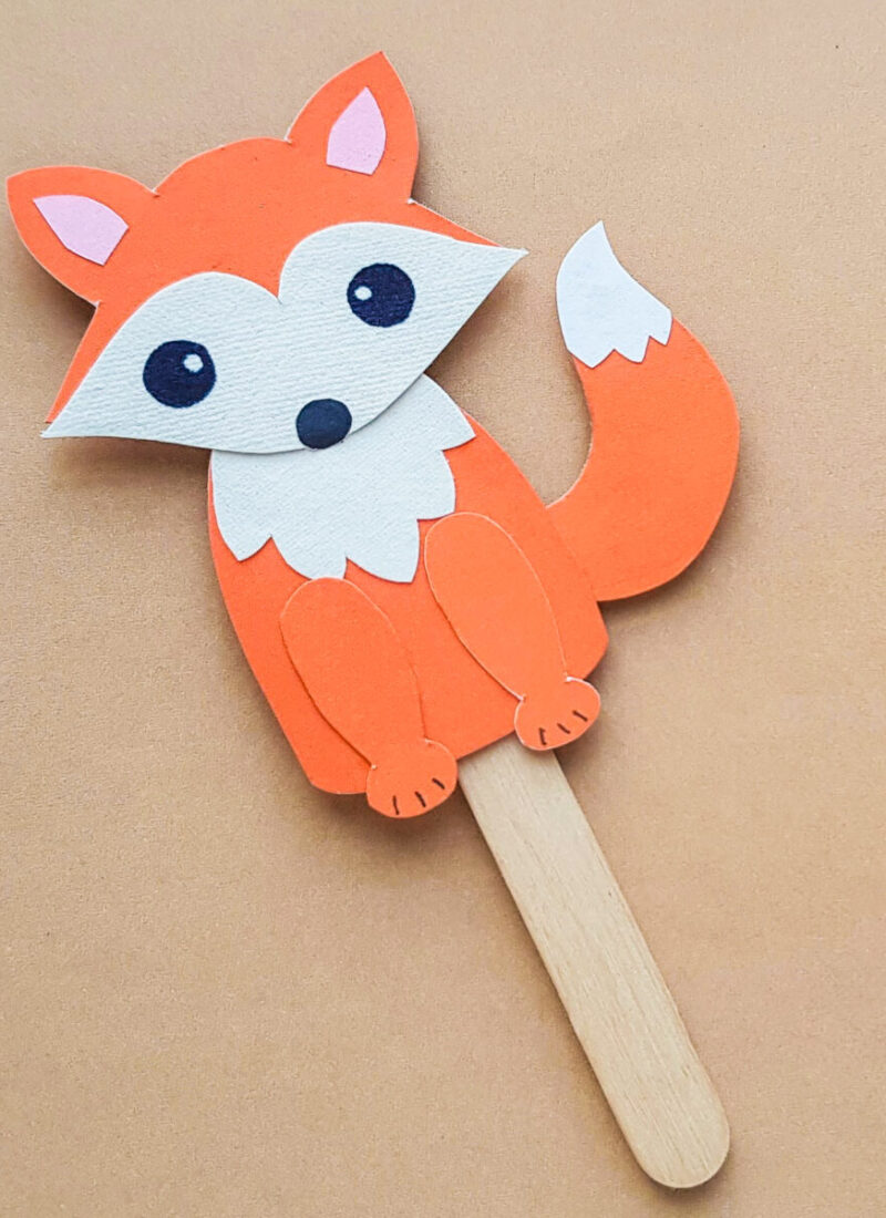 Papercraft Fox Puppet