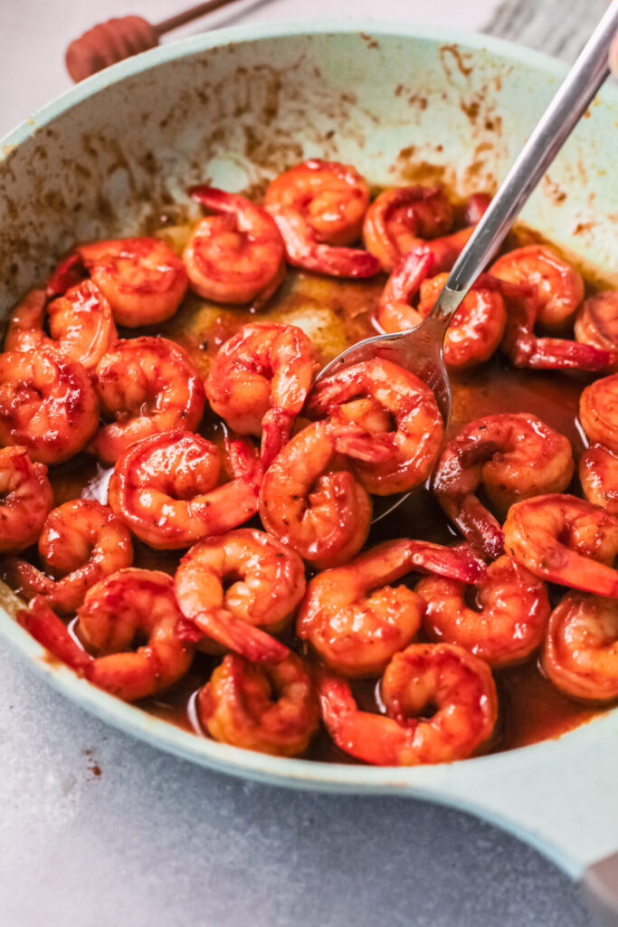 Make this Honey Cajun Shrimp in under 30 minutes for a terrific, quick and easy weeknight dinner made with a handful of simple ingredients.