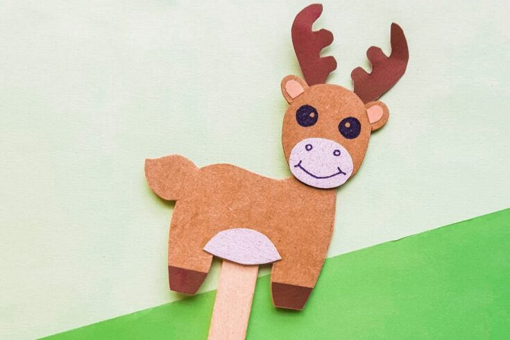 Papercraft Moose Puppet