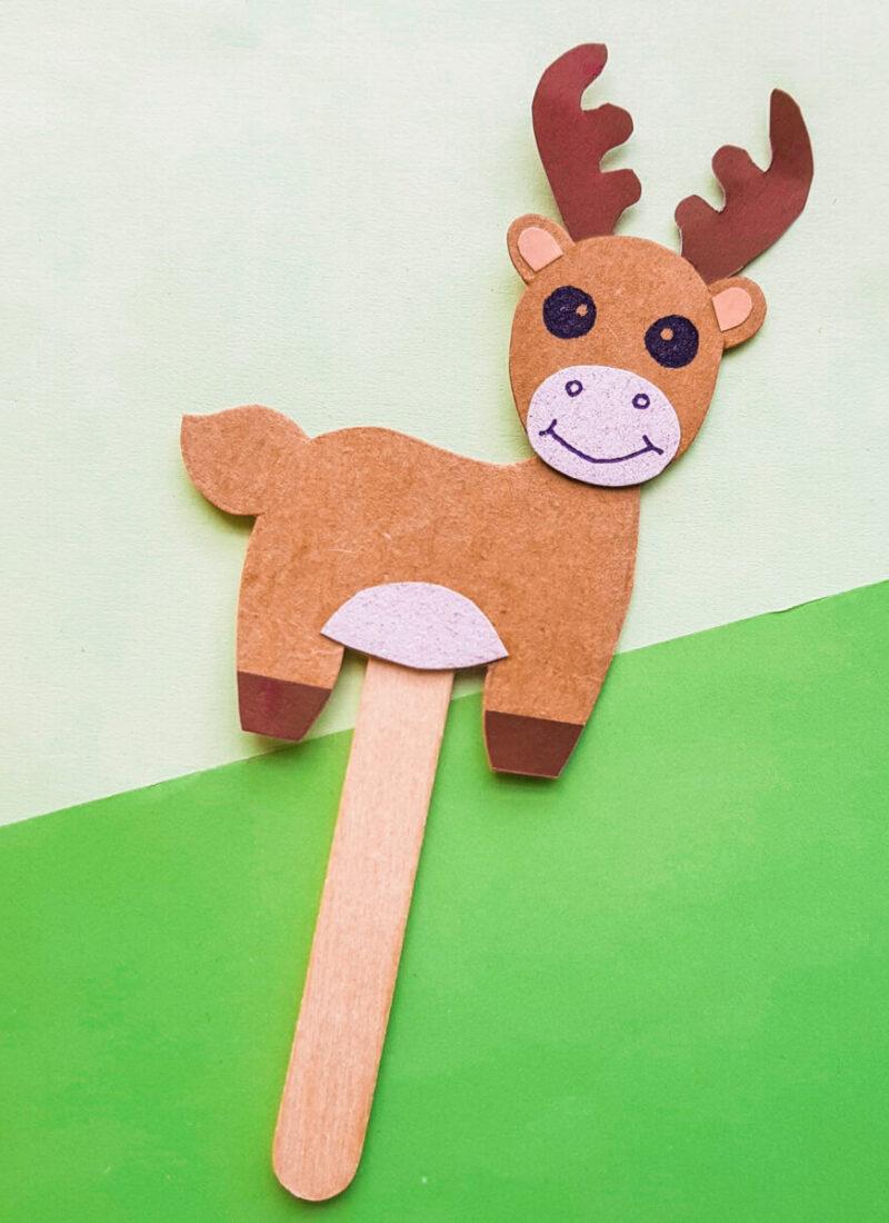 Papercraft Moose Puppet