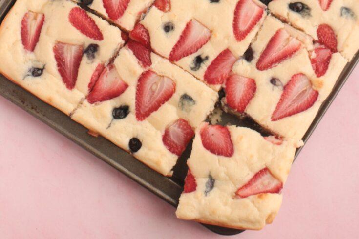Berry Sheet Pan Pancakes