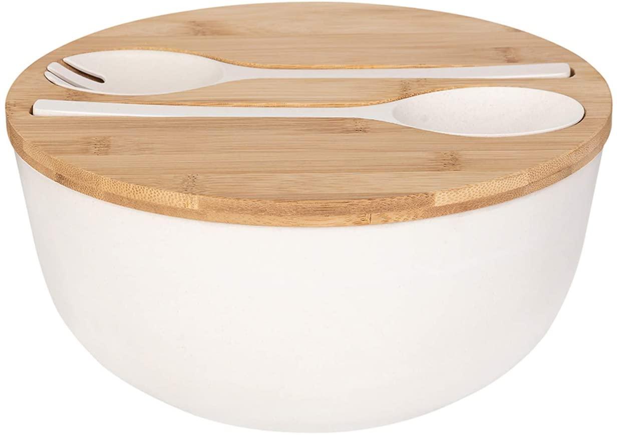 Bamboo Fiber Salad Bowl with Servers