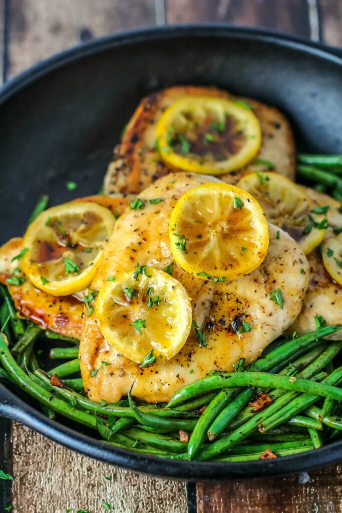 This pan fried lemon pepper chicken recipe results in chicken that is moist, flavourful and full of amazing bright citrus flavour.