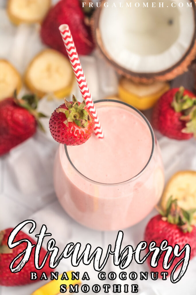 This easy Strawberry Banana Coconut Smoothie makes for a sweet and creamy breakfast made with three simple ingredients.