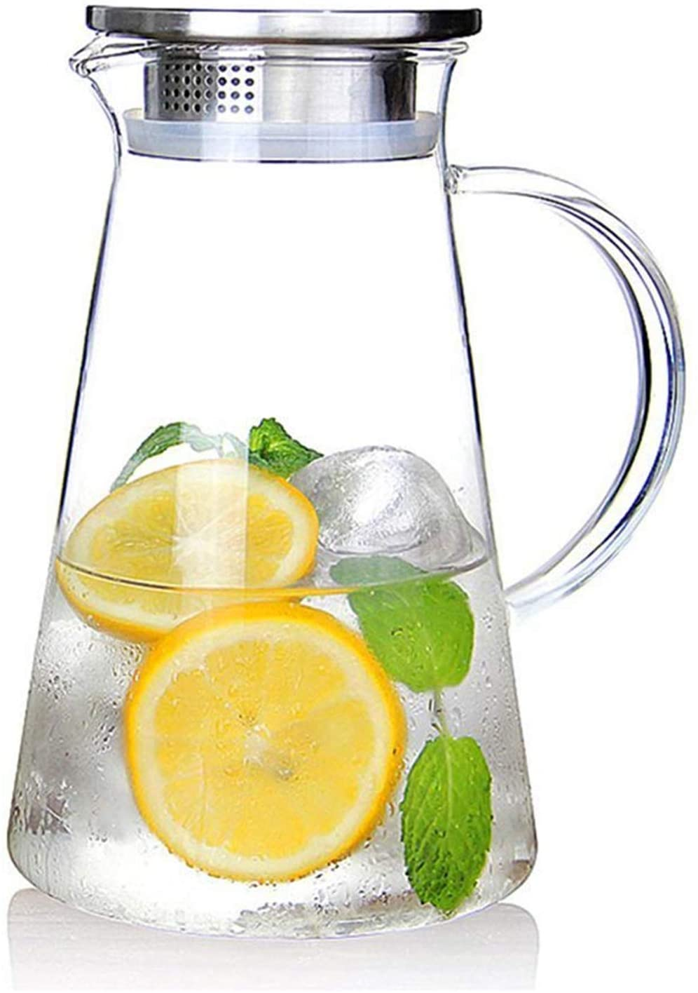 SUSTEAS Glass Pitcher with Lid