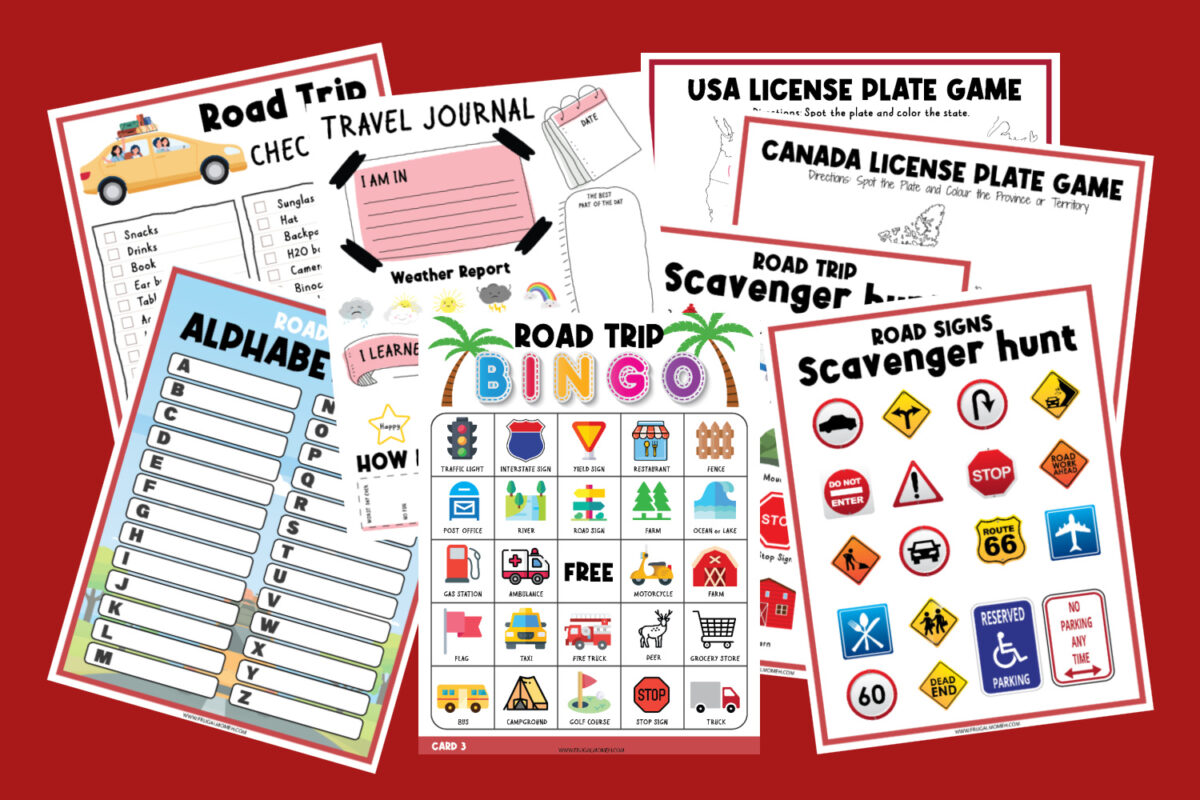 Grab these free printable road trip activities for kids to keep your family busy for hours, plus 14 more kid approved travel activities!