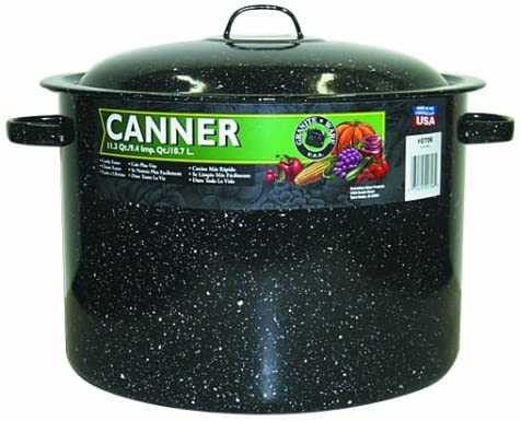 Granite Ware Covered Preserving Canner with Rack, 12-Quart