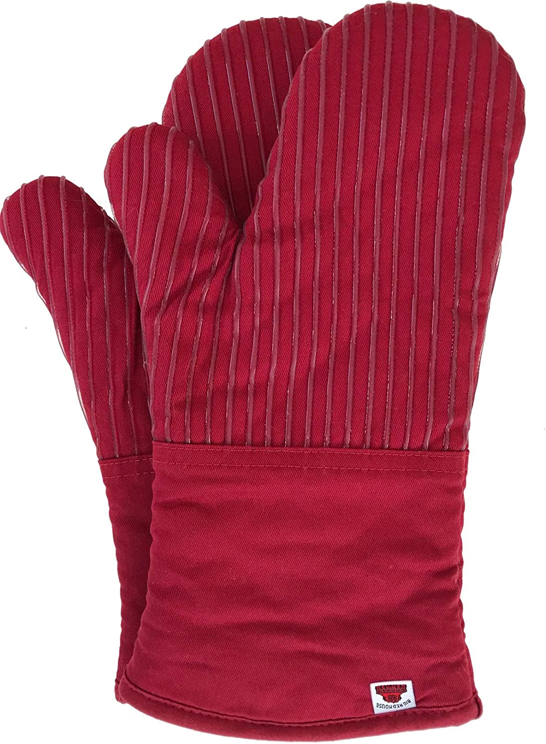 Oven Mitts, with The Heat Resistance of Silicone and Flexibility of Cotton