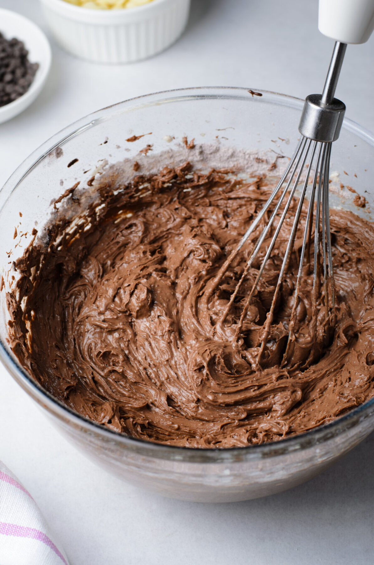 Brownies batter being mixed
